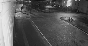 A group of men are seen on the footage before a chase takes place Pic: Preston Police