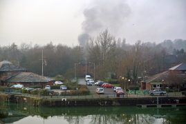 Smoke plume near Preston Docks Pic: Kevin Edwards/Blog Preston
