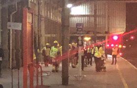 Emergency services at Preston Railway Station Pic: Katie Gunn