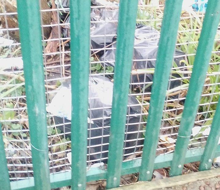 Black bags dumped in Burrow Road Pic: Julie Cartwright/Blog Preston