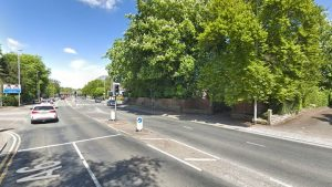 The property which is behind trees and up a drive, was targeted off Garstang Road Pic: Google
