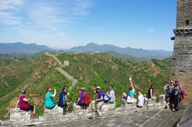 Walkers taking on the Great Wall of China trek