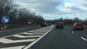 The crash took place on the M61 northbound just beyond Junction 9 Pic: Blog Preston