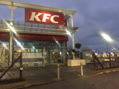 The fenced off KFC at Deepdale Shopping Park Pic: Blog Preston