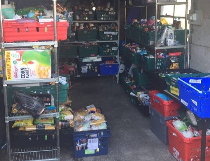 The current storage area for the Luv Preston foodbank Pic: Luke Parkinson/Blog Preston