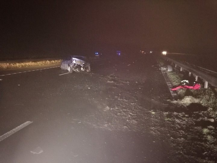 The junction 3 crash near Kirkham turn off Pic: LancsRoadPolice