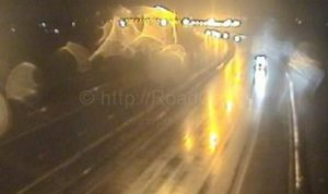 Traffic is not being allowed onto the M61 northbound from Junction 9 onto the M6 Pic: Motorway Traffic Cameras