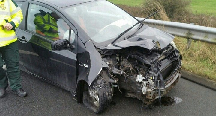 Damage to the vehicle from the crash Pic: LancsRoadPolice