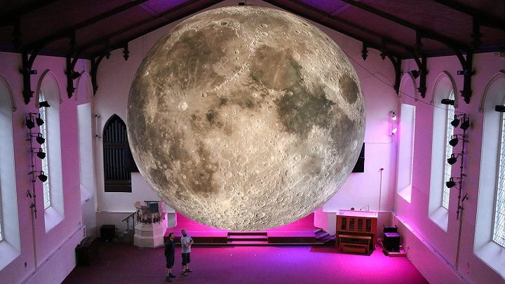 The Museum of the Moon at the Lakes Alive event