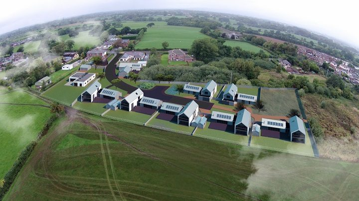 An overhead view of the proposed development Pic: Studio John Bridge