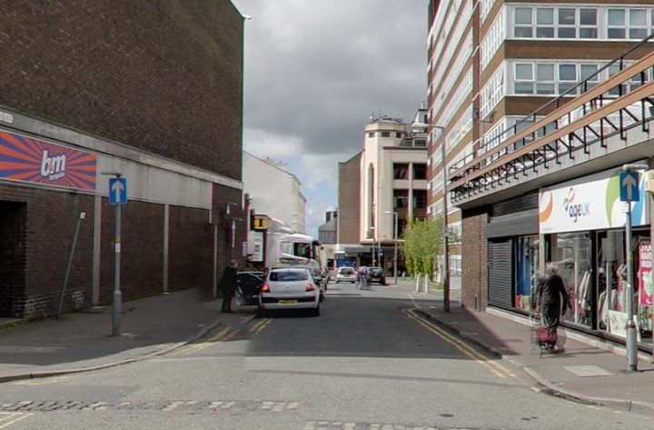 The attack took place between the Bus Station and the Old Vicarage Pic: Google