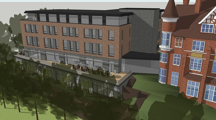 Another view of the proposed new building alongside the Park Hotel