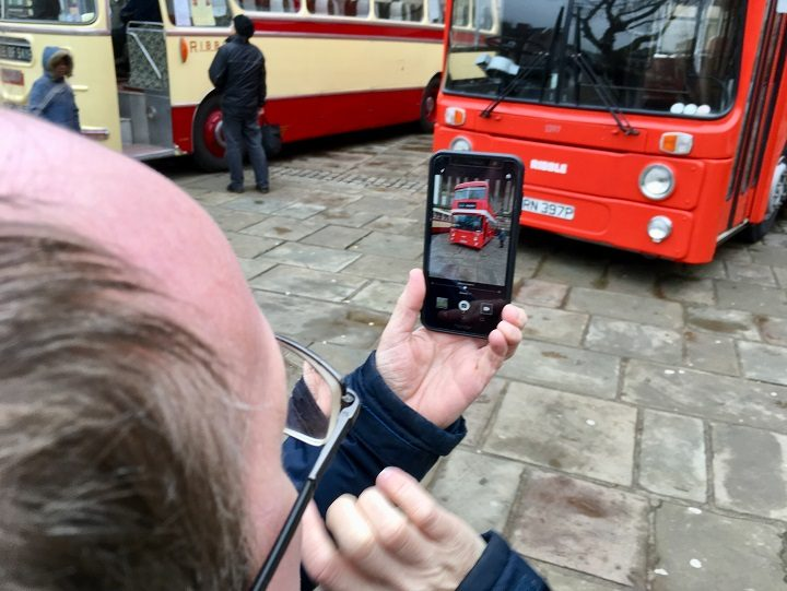 Snapping one of the Ribble Buses Pic: Plum and Co Vintage