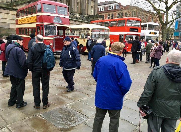 Ribble buses on the Flag Market Pic: Plum and Co Vintage