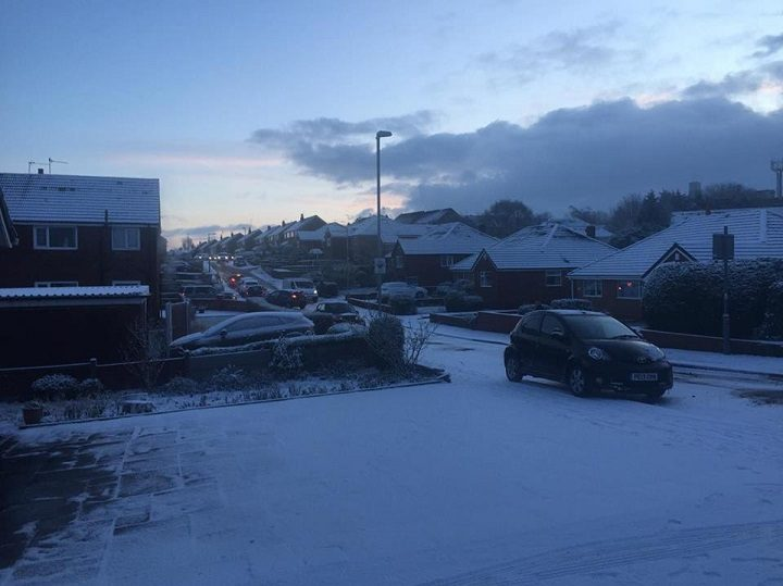 Ronaldsway became a car park during Wednesday morning Pic: Ryan Gillett