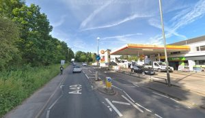 The man was struck close to the Shell garage Pic: Google