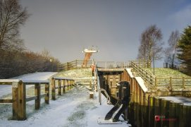 A cold scene on the Lancaster Canal locks Pic Paul Melling