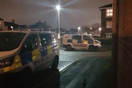 Police vehicles in Cunliffe Street Pic: Blog Preston