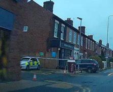 Police on the scene in Watkin Lane Pic: Blog Preston