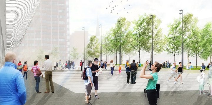Artist impression of how the Bus Station's western edge may look Pic: Cassidy+Ashton/Lancashire County Council