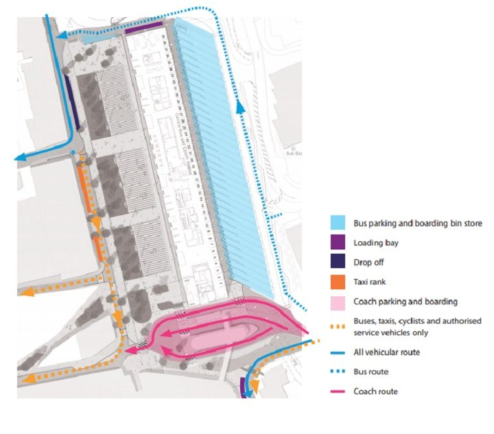 A map showing the changes to the road layout around the Bus Station Pic: Lancashire County Council