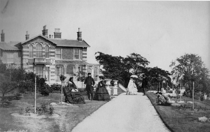 Members of the Pedder family pose in a photo at Whinfield House, which has since been demolished Pic: Preston Digital Archive