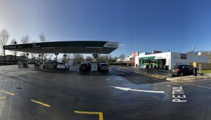 The revamped petrol station at Morrisons on Preston Docks