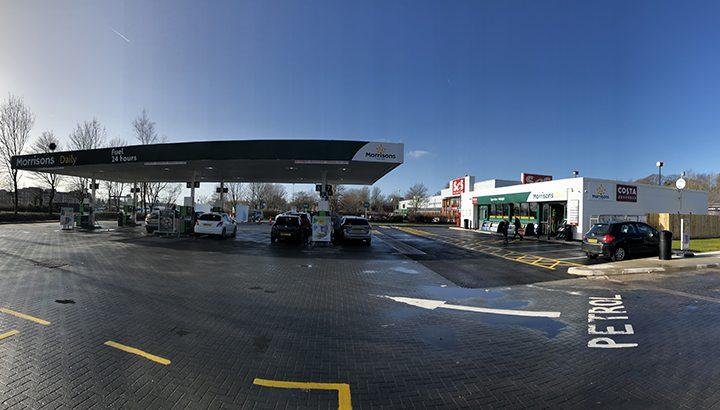 The revamped petrol station at Morrisons on Preston Docks