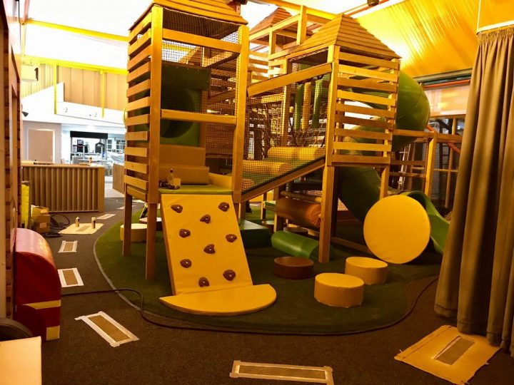 Climbing frame at the Kinder Hub