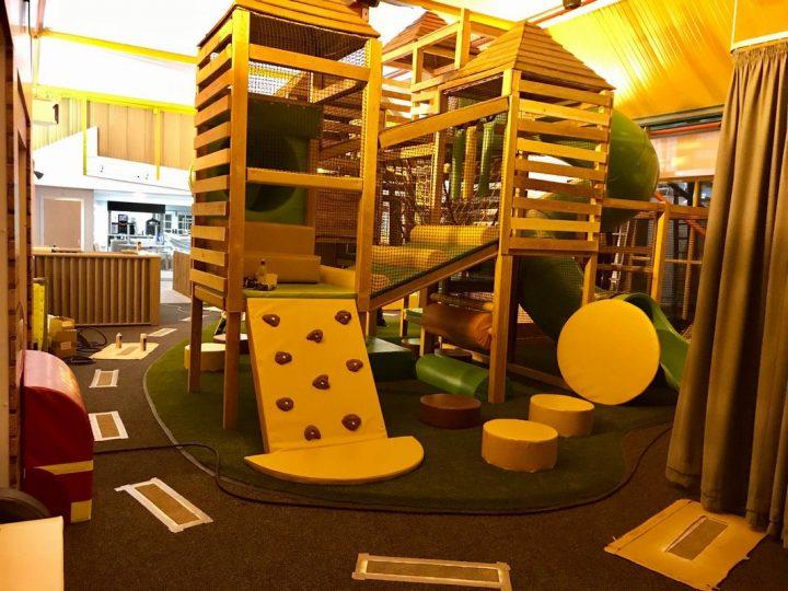 Climbing frame at the Kinder Hub
