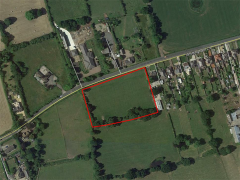 An aerial view of the planned site