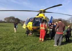 The air ambulance in Moor Park during Friday morning Pic: Annie Edmondson