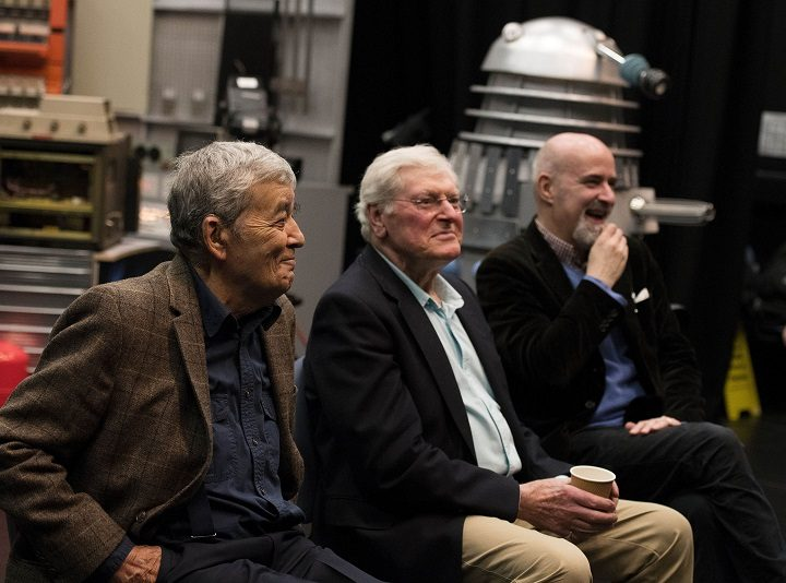 Edward de Souza, who featured in the 1965 lost episode, Dr Who companion Peter Purves and voice of the Daleks Nicholas Briggs