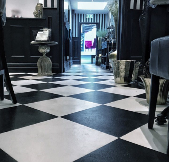 Chessboard style floor in Flanagan's Pic: Chris Darley