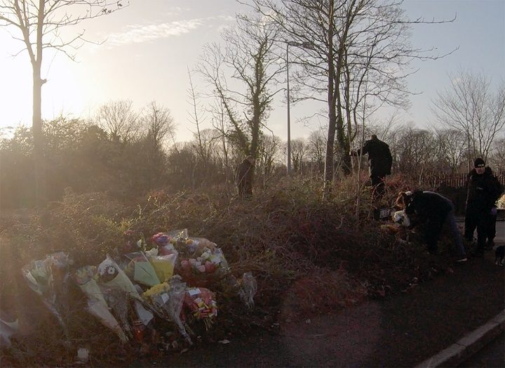 Floral tributes to Rosie were left at the scene where she died Pic: Stephen Melling/Blog Preston