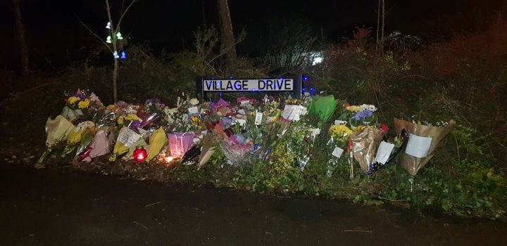 Village Drive has seen floral tributes put down for Rosie Pic: Luke Horton