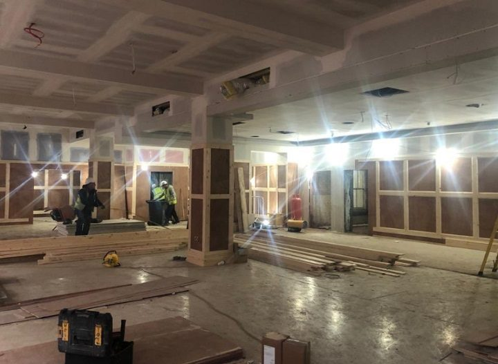 Work ongoing inside the Shankly Pic: Lawrence Kenwright/Shankly Hotel