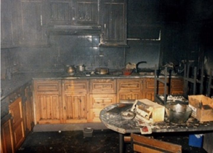 The aftermath of a kitchen fire Pic: Lancashire Fire and Rescue Service