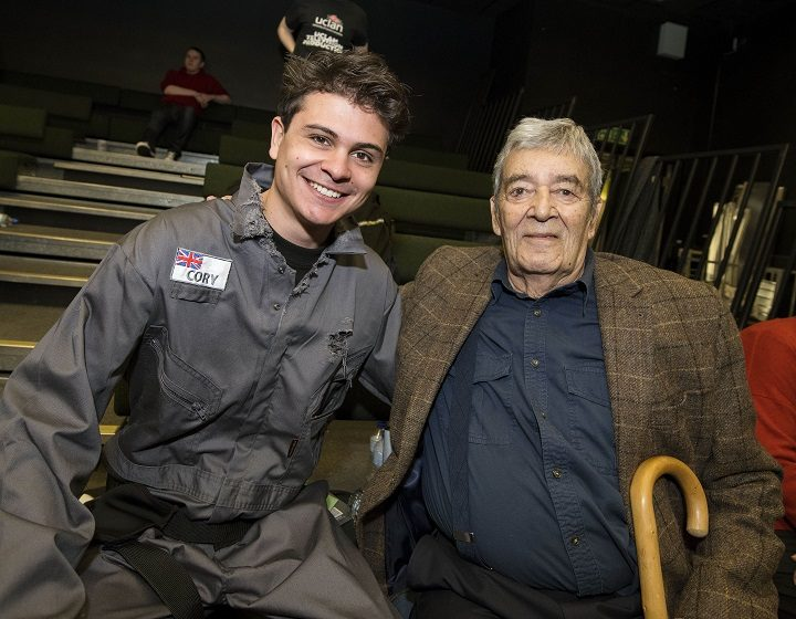 UCLan graduate Marco Simoni, who is playing Marc Cory in this lost episode, with Edward De Souza, who played the same character back in 1965