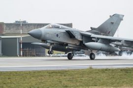 Royal Air Force Tornado GR4s arrive back in the UK at RAF Marham having completed almost 40 years serving the UK on military operations across the world Pic: Ministry of Defence