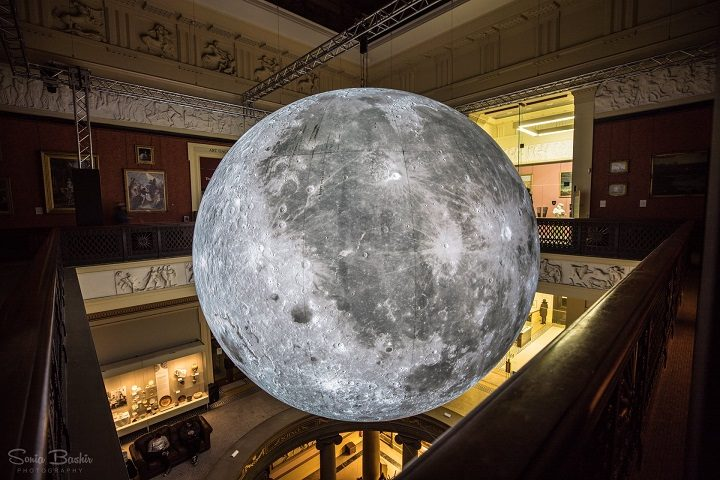 The Museum of the Moon hanging in the Harris Pic: Sonia Bashir