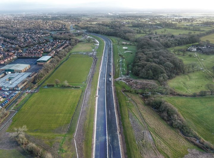 Penwortham Bypass work is ongoing Pic: Kevin Hunt