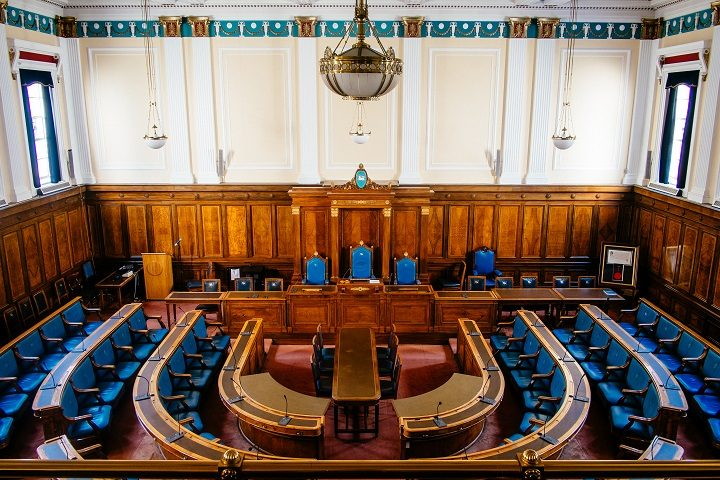 Inside the council chamber at Preston Town Hall