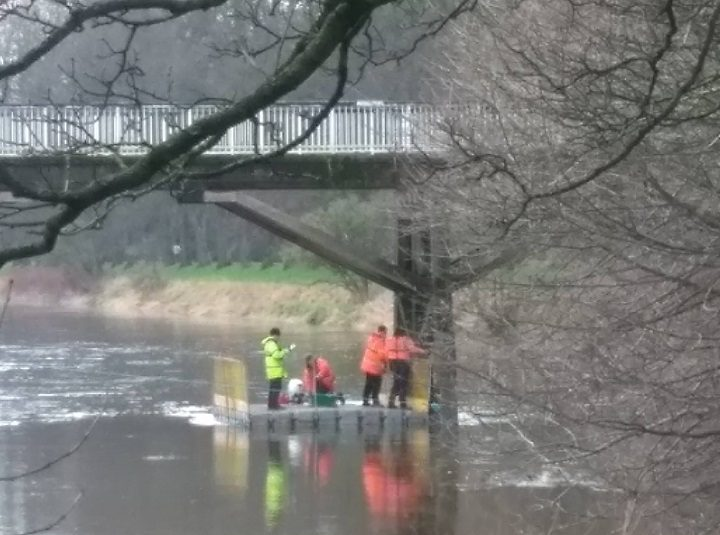 Investigation work taking place on the Old Tram Bridge in recent weeks Pic: Moira Claire/Blog Preston