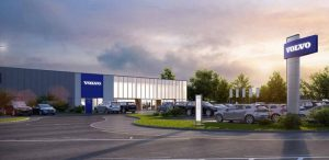 Artist impression of the proposed Volvo showroom