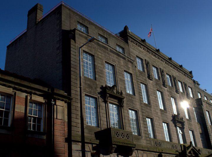 A sunlit Preston Town Hall Pic: Tony Worrall