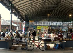 The new Preston Market Hall with the bric-a-brac market out front Pic: Tony Worrall