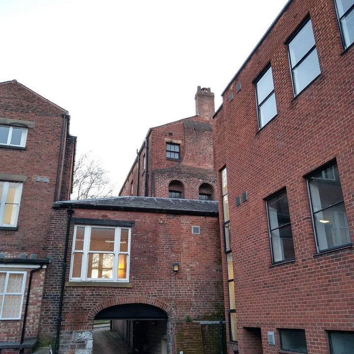 The rear of 6 Winckley Square with the unique chimney breast that heats the windows Pic: Blog Preston