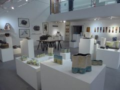 A previous MA Ceramics graduate exhibition