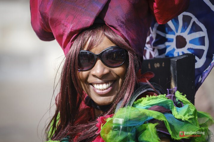 Smiling on the Flag Market as the sun shone down on the Unite Against Racism event Pic: Paul Melling